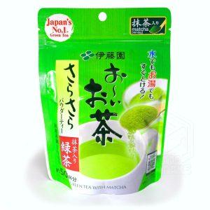 Ito En Ooi Ocha polvere di te verde matcha istantaneo 40g fronte tuttogiappone