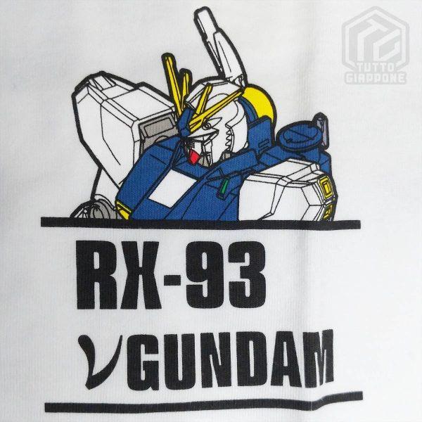 bandai gundam gunpla RX 93 t shirt bianca dettaglio tuttogiappone jpg