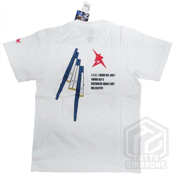 bandai gundam gunpla RX 93 t shirt bianca retro tuttogiappone